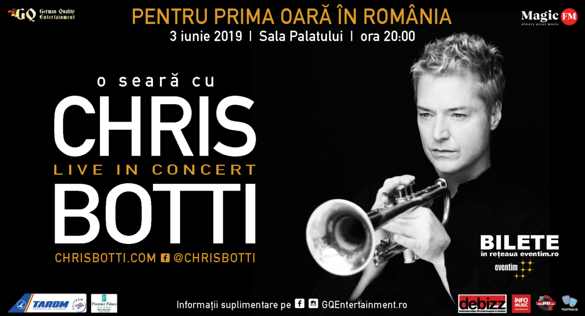CHRIS BOTTI va impresiona in concert la BUCURESTI